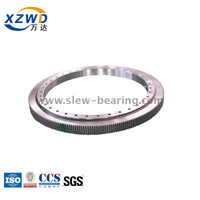 Light ball slewing bearing gear or rim with external gear for robot