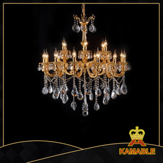 Blazing indoor decorative cast aluminum chandelier(9129-12+6L)