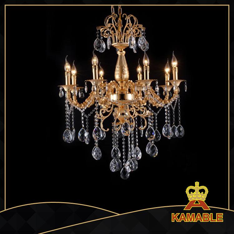 noble style indoor decorative cast aluminum chandelier 9122 8l