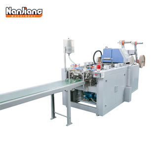 WFD100-1 High Speed Twist-rope & Flat-belt Paper Handle Making Machine