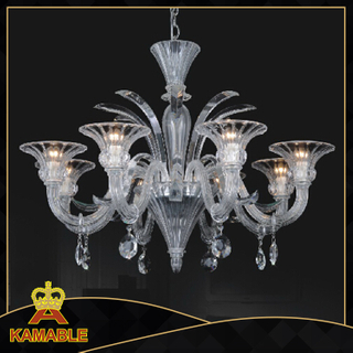 Home Clear color Murano style glass chandelier(81072-8)
