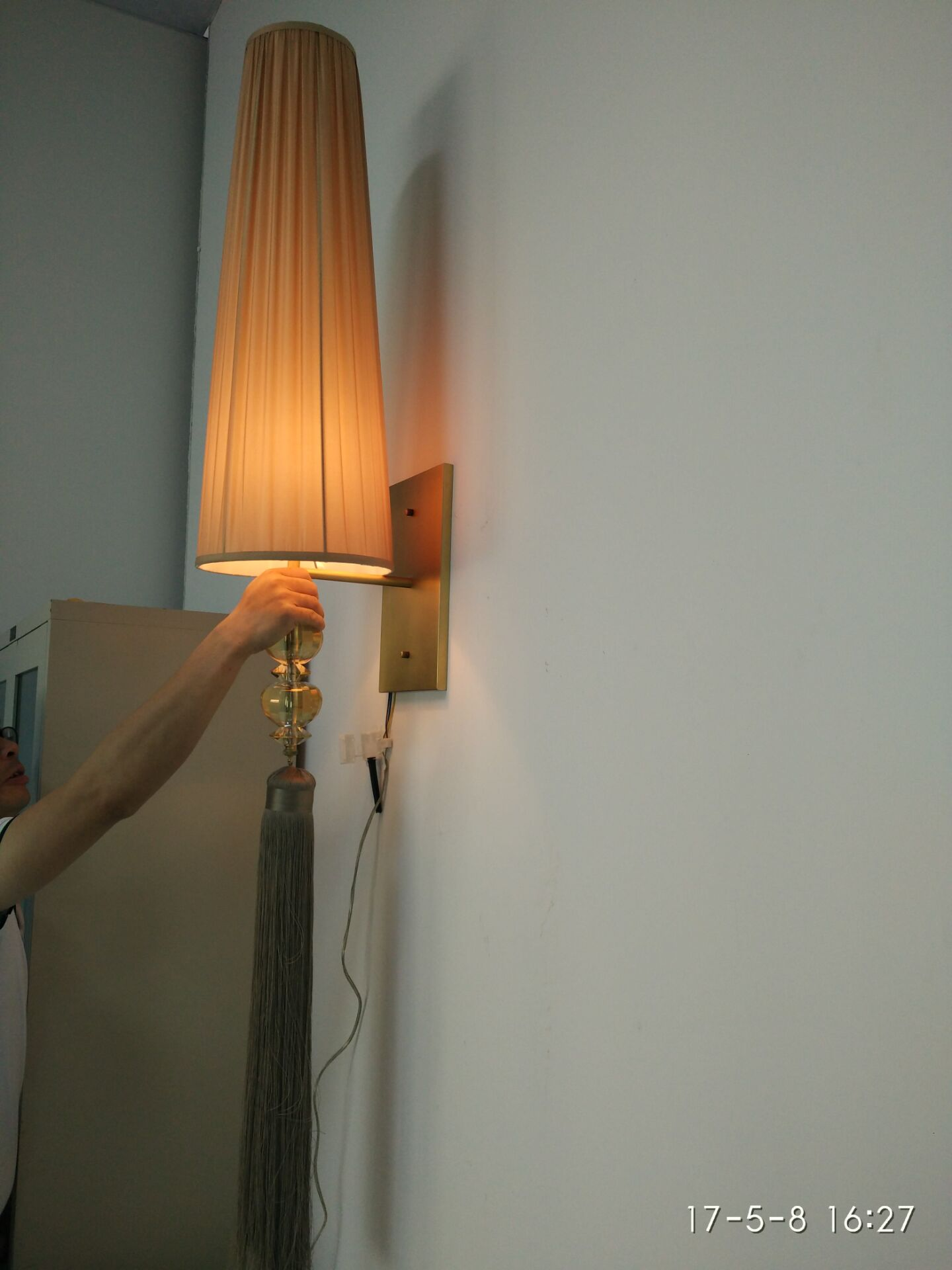 Luz modificada para requisitos particulares sitio de la pared del proyecto del hotel (KA170301-3)