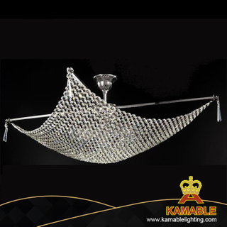 Decorative crystal chain net ceiling chandelier(CL 5280/8CR+WT)