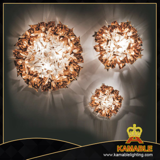 Popular home decoration acrylic iron ceiling lamp (9183C/S copper)