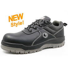 CT0161 black leather pu injection oil resistant safety shoes malaysia