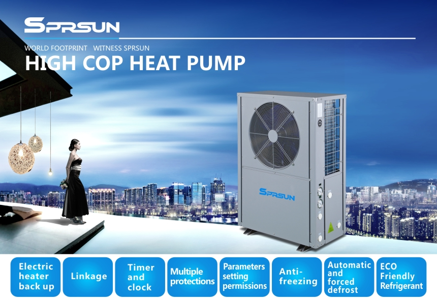High Cop Air to Water Heat Pump