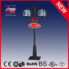 (LV30188EG-HSH11) Classic Black Color Christmas Street Light Santa Claus with LED
