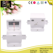 White Paper Dancing Doll Inside Children Use Jewelry Box