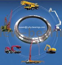 Machine 50 Mn 4 Point Contact Single Row Ball Slewing Ring Bearing for Fire Truck