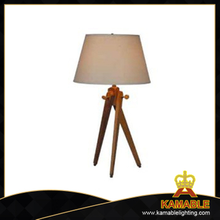 Modern Leisure Bedroom Table Lamp with Fabric Shade (T712)