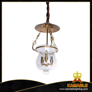 Brass with decoration clear glass shade pendant(CH9019-3)