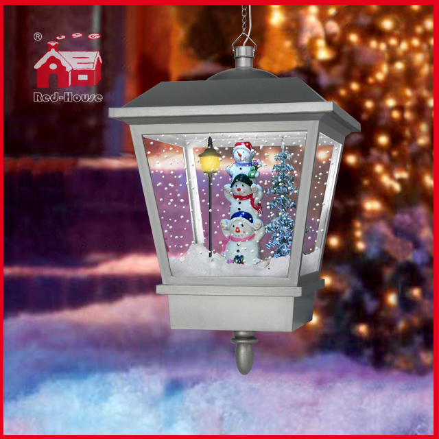 (LH27045-3S1-S) Christmas Gifts Snowing Snowman Family Pendant Lights