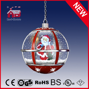 (LH30033D-RS11) Santa Claus Round Ball Shape Hanging LED Lamp for Christmas
