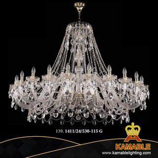 Classial Decorative Crystal Chandelier Light (1411/24/530-115 G)