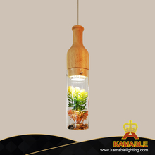 Wood Glass Botany Pendant Hanging Modern Decorative Light (89077S)