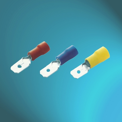 Vinyl Insulated Male Tap Terminals-Double Crimp