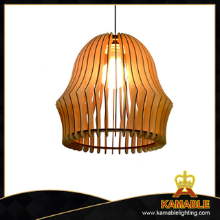 Modern indoor lantern style plywood decorative pendant lights(KAM-BD-L)