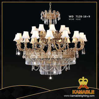 Brass with crystal Classical pendant chandelier(WD7128-18+9)