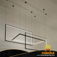Simple Nordic Style Hanging Chandelier LED Pendant Light (KAMD1337B-3A)