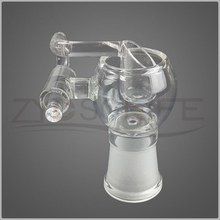 White glass cigarette accessories hookah pipe fittings 14mm 19mm