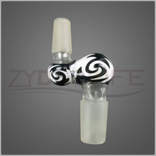 Novel black zebra pattern shisha pipe fittings 14mm 19mm