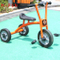 Mini three-wheel metal tricycle