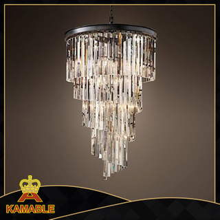 Gorgeous and luxury effect crystal pendant light for hotel( KR0262P-8 )