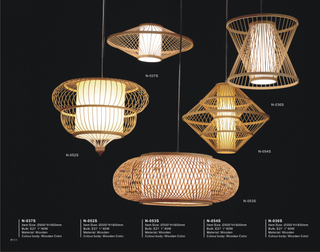 Decorative multifarious shape indoor wood modern pendant lighting(N-054S)