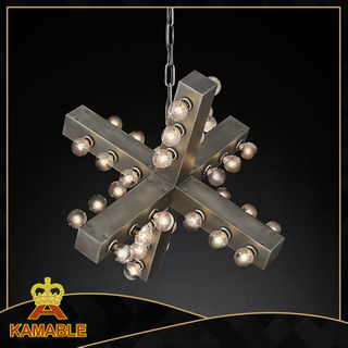 Antique silver color fancy steel stand design pendant light(KM0263P-36)