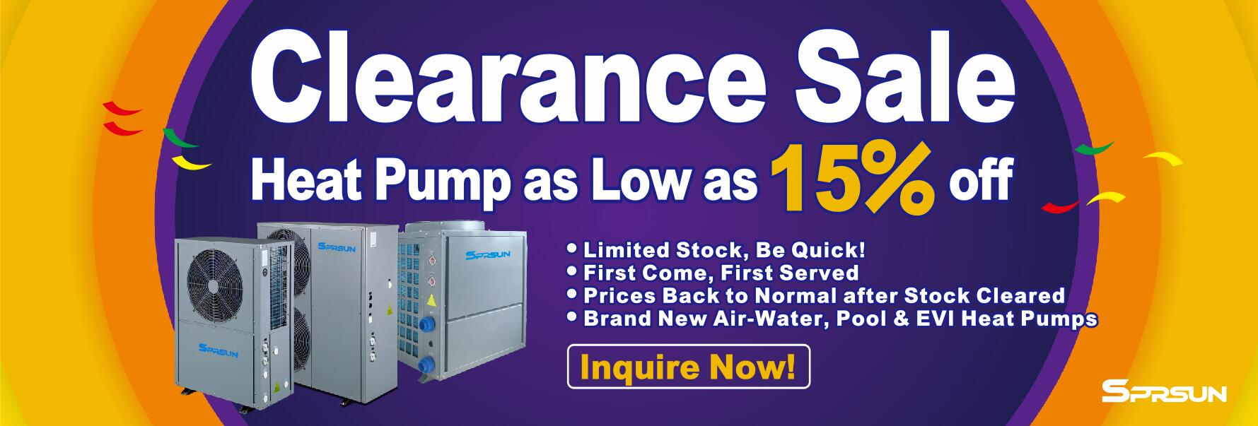 SPRSUN Heat Pump Clearance Sale