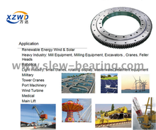 Xuzhou Wanda Widely Application Area Single Row Crossed Roller Slewing Ring Bearing External Gear