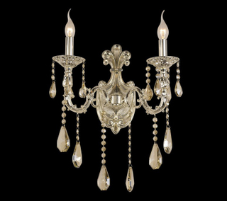 Crafted design indoor decorative crystal wall lamp (FY - 10022 - 2)