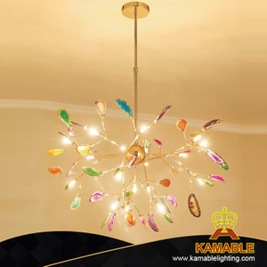 New Design Luxurious Brass Agate Pendant Lights (KAG3125-D780)