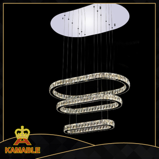 Hotel Lobby Modern Crystal and Stainless steel Led pendant light(KA10111-920)
