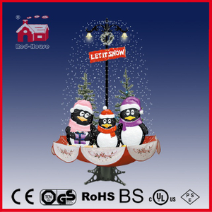 (40110U170-3P-RS) Snowing Christmas Decorations with Umbrella Base