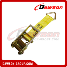 4 inch Ratchet Strap Short End with Delta Ring