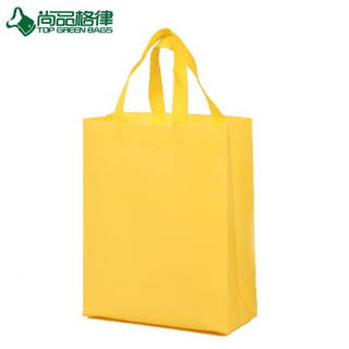 2017 Non Woven Promotion Bags Yellow Carry Gift Bags (TP-SP636)