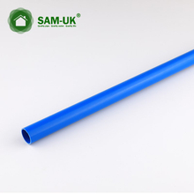 blue color schedule 40 PVC pipe for electrical