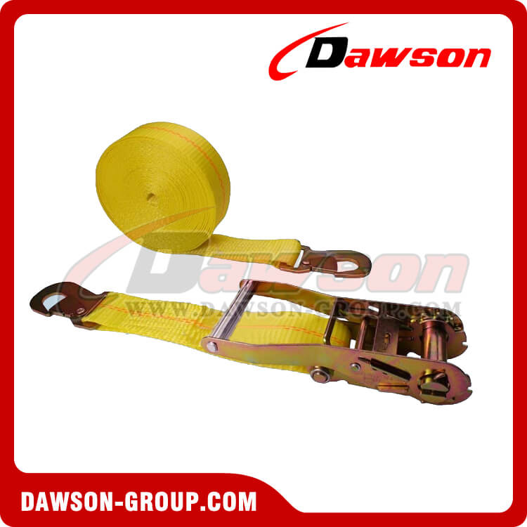 2'' x 27' Ratchet Strap with Flat Snap Hook- china manufacturer supplier - Dawson Group