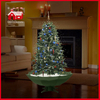 (40110U150-GW) All Green Christmas Tree Snowing Xmas Decoration with LED
