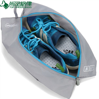 Custom Made Waterproof Polyester Travel Shoe Bag (TP-SB003)
