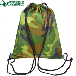 600d School Bag Sport Camouflage Drawstring Backpack Bag (TP-dB266)