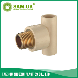 CPVC male brass tee for water supply Schedule 40 ASTM D2846