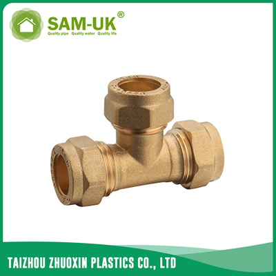 Brass male tee fitting for water supply