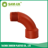 PPH threaded bend for hot water