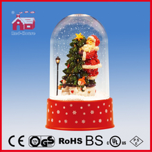 (P18030B) Red House Snowing Christmas Decoration with Transparent Case