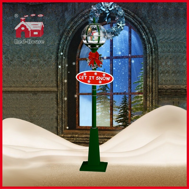 (LV30175G-GSG11) Snow Globe Christmas Street Lamp with LED Lights Decorations