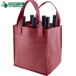 6 Bottles Wine Non Woven Holder Beer Carry Bag Bottle Bag (TP-WB121)