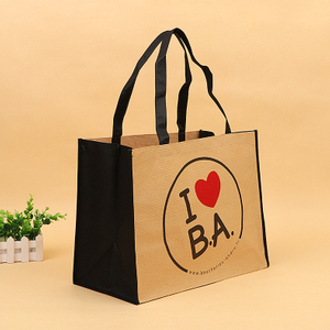 New product clothing grocery quadrillage paper and nonwoven bag