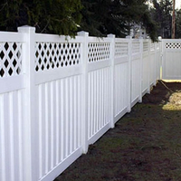 Vinyl Semi-Privacy Fence With Top Lattice DY107
